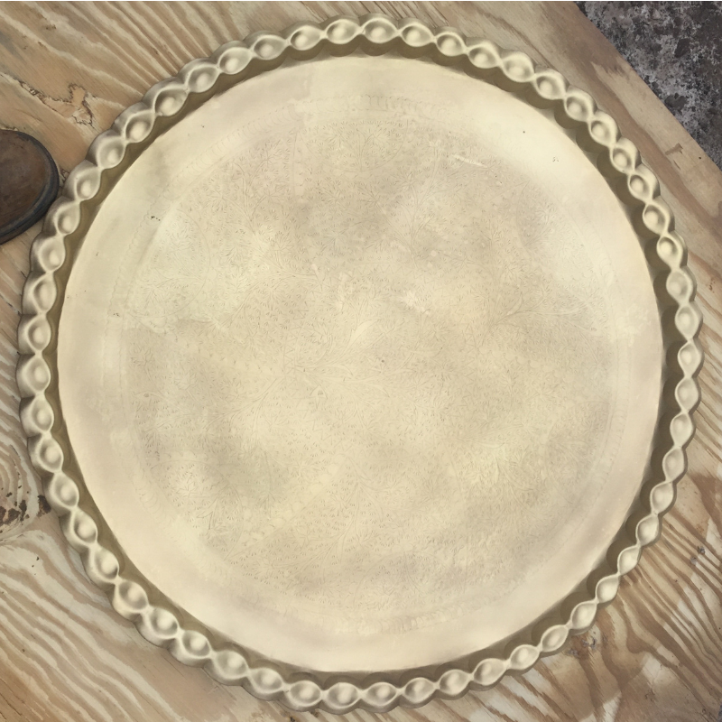 Paint & Rust removal from Antique-Platter