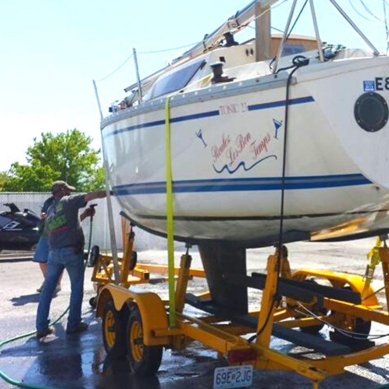 Removing Anti-fouling Paint from Sailboat