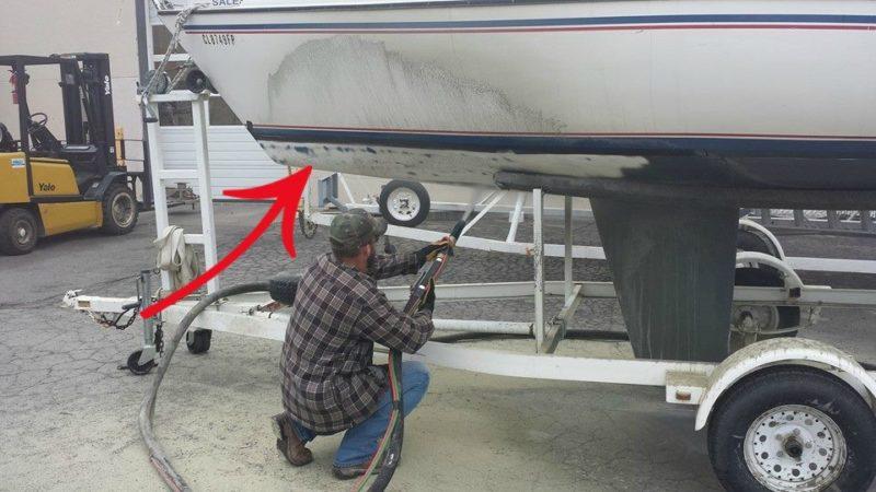 Removing anti-fouling paint Blast Monkey of KC